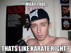 Muay thai... that's like karate right?