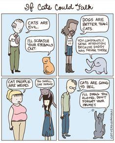 The internal dialogue of a cat.