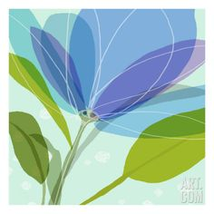 Abstract Flower Wall Decal at Art.com