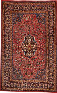Kashan rug size approximately 6ft. x 9ft. 8in.