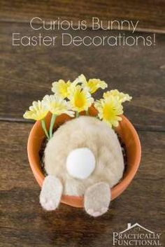 Your little ones will be in giggles after seeing this whimsical Easter decoration.Get the tutorial a... - Courtesy of Practically Functional