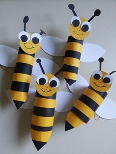 Toilet Paper Roll Bees by caitlin