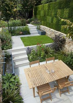 If you are looking for Small Garden Design Ideas, You come to the right place. Below are the Small Garden Design Ideas. This post about Small Garden Design Ideas. Back Gardens, Small Gardens, Outdoor Gardens, Gardens On A Slope, Contemporary Garden Design, Small Garden Design, Garden Modern, Landscape Design, Modern Gardens