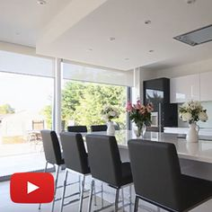 Electric Blinds Hidden in Every Window Window Blinds, Blinds For Windows, Electric Blinds, Kitchen Diner Extension, Shaped Windows, Modern Blinds, Blackout Blinds, Design Your Dream House, Window Dressings