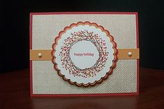 I am obsessed with this stamp set! It is called Remarkable Wreath by CTMH