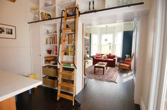 diseños estantes integrados libros escaleras