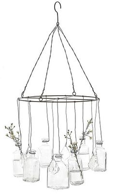hanging bud vase- would be so easy to make (though this one's for sale).