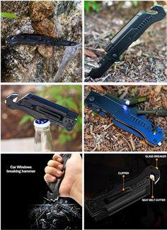 Tactical Survival, Survival Knife, Deer Hide, Spark Up, Glass Breaker, Traverse City, Fire Starters, Camping Survival, Self Defense