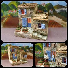 Santons Atelier de Fanny-Santons et Crèches de Noël-Santons de Provence - Maison de village n°4 - 54.00 EUR