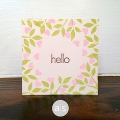 A sweet hello featuring stamps from the Tweet Heart stamp set.