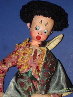 "11"" Klumpe Matador Cloth Character Doll Spain 1950s 