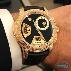 Christophe Claret Adagio Minute Repeater Unique Piece #siarmx2017 45 mm yellow gold case, fully engraved with renaissance motifs, including five musical instruments from that era USD 280,000 #christopheclaret #adagio #minuterepeater #dualtime #finewatchmaking #hautehorlogerie #relogioserelogios