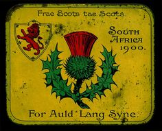 rare Scottish Soldiers Boer War Tin- given to Scottish troops and contained cigarettes or chocolate.