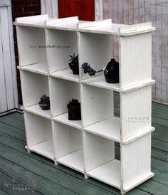 vintage shelf cabinet