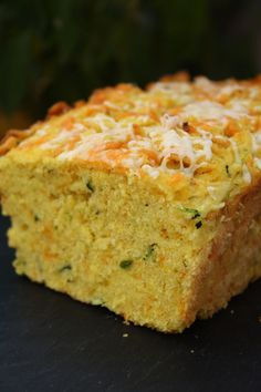 Zucchini Cornbread... to serve with chili because somehow I acquired zucchini and I don't know what to do with it.