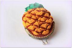 Monedero ananas piña crochet algodon