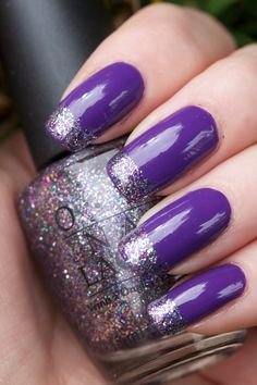 Glitter tip in any color works with today's holiday fashions. Shown here for glitter is the  collector's coveted Mad As A Hatter - often tried to be duplicated but no one has done it (yet) as great as this one is.