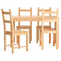 IKEA - INGO / IVAR, Table and 4 chairs, Solid pine; a natural material that ages beautifully.