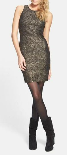 Shimmer and Shine in this stunning, metallic dress