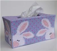 Everything Plastic Canvas - Peeking Easter Bunnies Long Tissue Topper Plastic Canvas Coasters, Plastic Canvas Tissue Boxes, Plastic Canvas Crafts, Plastic Canvas Patterns, Easter Crafts, Fun Crafts, Easter Ideas, Box Patterns, Craft Patterns