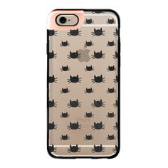 iPhone 6 Plus/6/5/5s/5c Metaluxe Case - Cat Pattern | Transparent... ($50) ❤ liked on Polyvore featuring accessories, tech accessories, phone cases, phones, technology, iphone case, iphone cover case, transparent iphone case, apple iphone cases and black cat iphone case