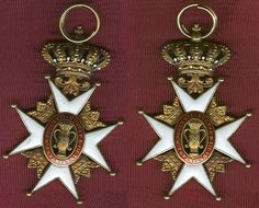 Sweden Order of Vasa Gold Knight's Cross, 1st class; A very early type from circa 1860s