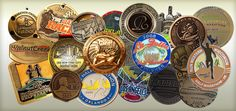 Half Marathon World - shows medals from many races