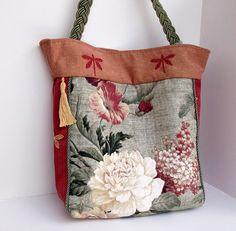 Flower Purse , Floral Handbag , Tote Bag , Over the Shoulder Bag   ClassA - Bags & Purses on ArtFire