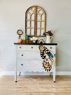 Hand painted with chalk paint by Leah Noell Design Co.