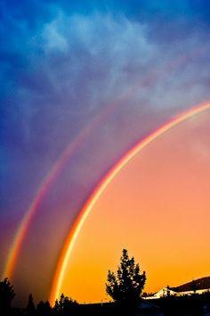 RaiNbOwFalLs OoooAhhh Pinterest Rainbows Scenery And - 17 breathtaking photos of rare double rainbows