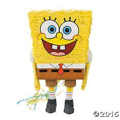 SpongeBob SquarePants™ Pull-String Piñata, Pinatas, Party Decorations, Party Supplies - Oriental Trading