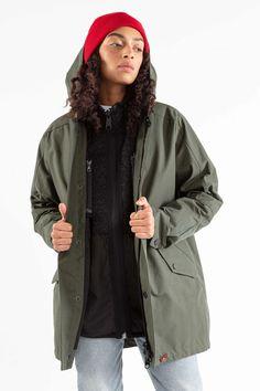 The LADIES' COAT – JECKYBENG Rain Jacket, Bomber Jacket, Models, Lady, Coats For Women, Surf, Windbreaker, Mountain, Nature