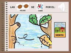 MATERIALES - Las hojas de otoño.    Cuento sobre el Otoño, realizado en PowerPoint, con animaciones y sonidos.    http://www.catedu.es/arasaac/materiales.php?id_material=15