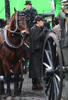 Sherlock Christmas Special / Benedict Cumberbatch and Martin Freeman film a scene for the 'Sherlock' christmas special in LondonFeaturing: Benedict CumberbatchWhere: London, United KingdomWhen: 07 Feb 2015Credit: WENN.com