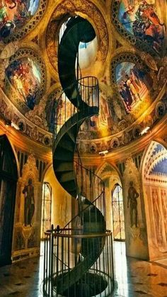 Arte y Arquitectura Spiral staircase of Castello Ducale ~ Gubbio, Umbria, Italy. Architecture Antique, Art Et Architecture, Beautiful Architecture, Beautiful Buildings, Architecture Details, Beautiful Places, Romantic Places, Romantic Travel, Escalier Design