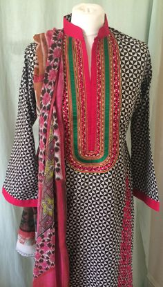 New Pakistani Indian Trouser Salwar Kameez Ready Made Stitched Suit - Lawn