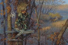 Does this mean that the hunter skipped work to go hunting or did he get to his stand at the wrong time? Available as:Artist Proof (Edition size 250)