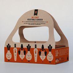 My first Vegetable Garden quot; by apuntbarcelona garden Organic Packaging, Fruit Packaging, Toy Packaging, Food Packaging Design, Bakery Website, Vegetable Packaging, Faux Fur Bean Bag, Box Design, Design Tech