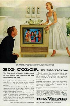 """#ThrowbackThursday: Big Color by #RCA. """"The final touch of #beauty in #TV."""" #tbt"""