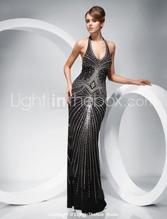 Trumpet/ Mermaid Halter Floor-length Evening Dress - US$ 349.99