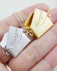 'love letter' necklaces
