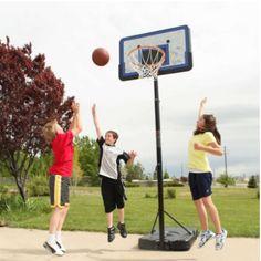 Lifetime 44 Pro Court Height Adjustable Portable Basketball Hoop
