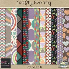 FREE Crafty Evening Papers 4 - January 2016 Pixel Scrapper Blog Train : Dreamn4ever Designs