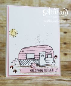Glamper Greetings stamp set from Stampin' Up! See more cards using this set by clicking the photo.