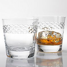 Double Old Fashioned Glasses With Diamond Band (Set of 4) at Wine Enthusiast - $79.95