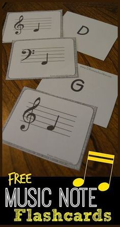 This is a photo of Crush Music Note Flashcards Printable