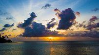 Sunlight sparkles on the Maldives.
