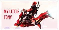 Deadpool Iron Many - My Little Tony Vanity License Plate, http://www.amazon.com/dp/B00H6J7UDS/ref=cm_sw_r_pi_awdm_snKHub0NZXB65