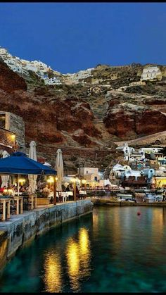 Ammoudi port at night! Santorini