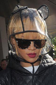 i want this panda rain cap Steam Punk, Rain Bonnet, Rain Cap, Crazy Hats, Quirky Fashion, Grunge, Rihanna Fenty, Animal Ears, Black Girls Rock